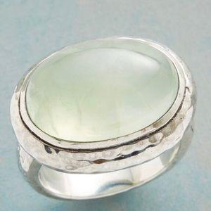 NWT Sundance Prehnite Ring Set In Sterling